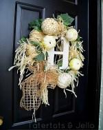 Turn a Dollar Store Hula Skirt into a Fall Wreath