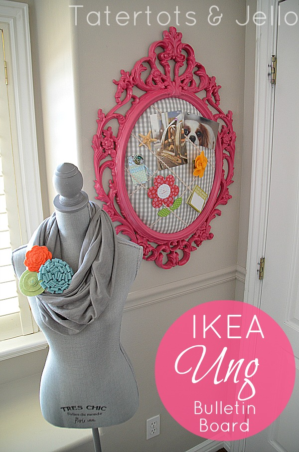 d0142e4a4 Ikea Ung Frame to Colorful Bulletin Board (DIY tutorial)