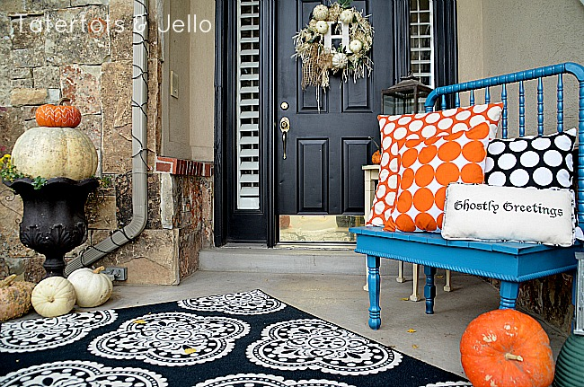 40 FALL Front Door Decorating Tips Magnificent How To Decorate A Bench With Pillows