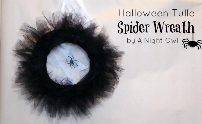halloween tulle wreath a night owl blog