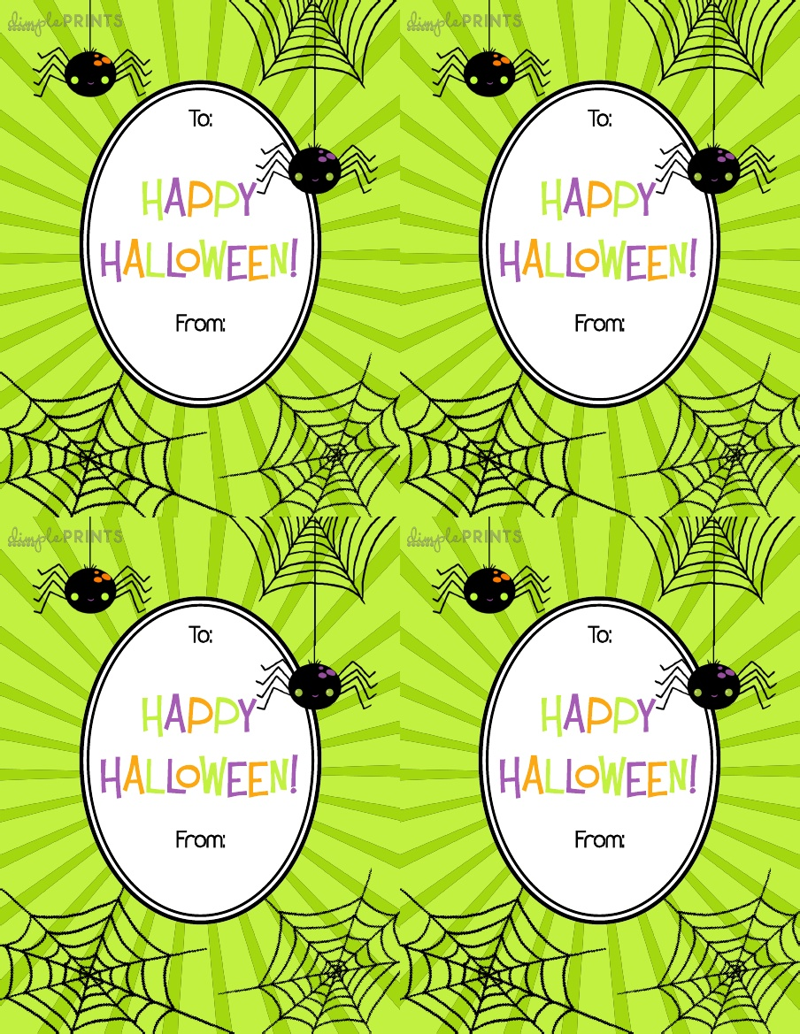 Slobbery image throughout free printable halloween gift tags