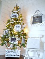 My Winter White Family Photo Christmas Tree!!