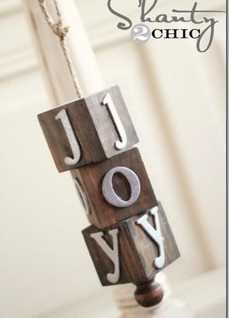 HAPPY Holidays — DIY Wooden Block Ornament