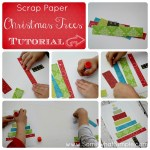 HAPPY Holidays: Scrap Paper Christmas Trees or Birthday Cakes!