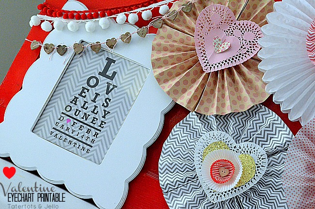 Valentine's Day: FREE Eye Chart Printable (decorating idea)