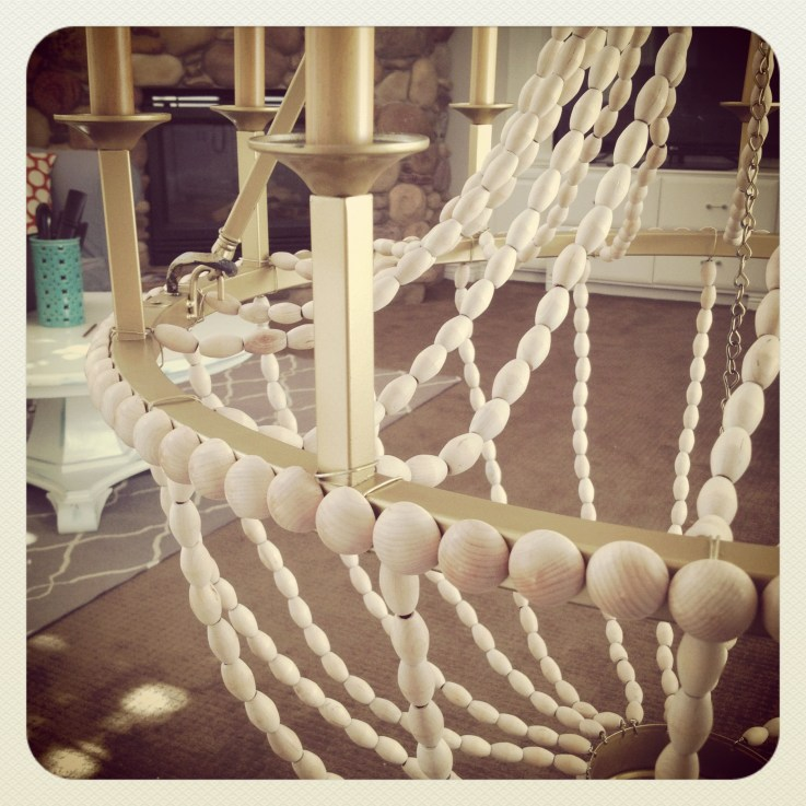 Ribbon Chandelier Diy: Upcycle A Plain Chandelier Into A Beaded Showpiece