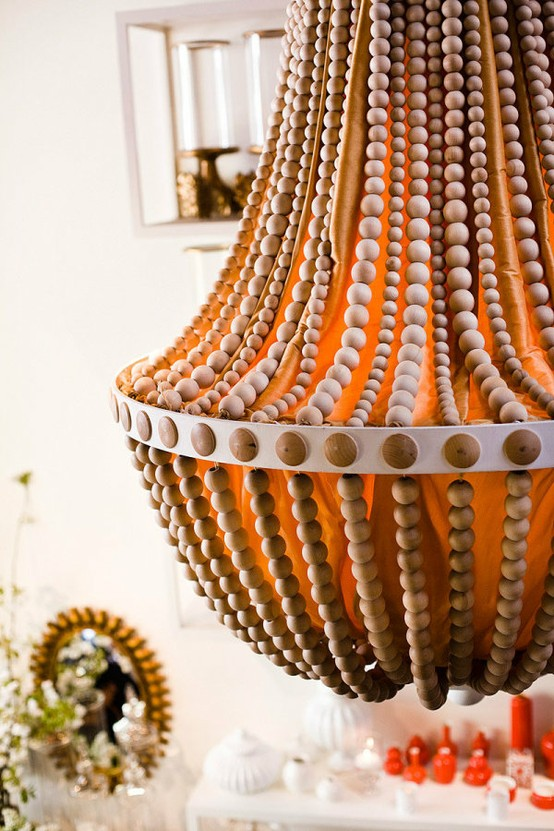 Upcycle a plain chandelier into a beaded showpiece beachy diy mozeypictures Images