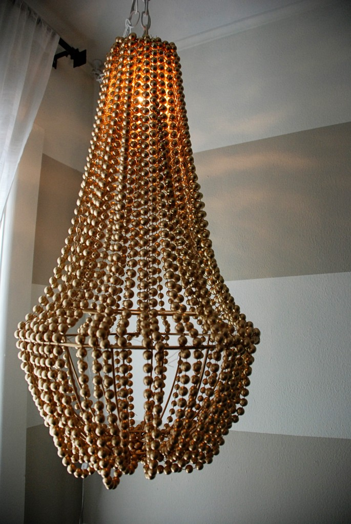 New Gold Beaded Chandelier