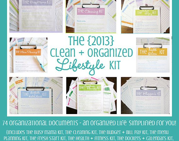 Weekend Wrap Up Party — and a Giveaway to Organize YOUR 2013!!