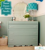 Painted Dresser With Ribbon Handles Tutorial (Roadside Dresser Redo)
