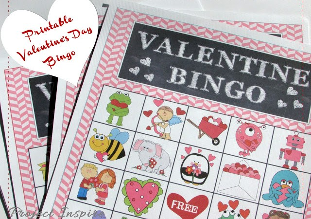 Printable Valentine Bingo Cards AND Matching Printable Bag Toppers!