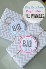 Big Bro and Big Sis Free Printable Tags and Pins!