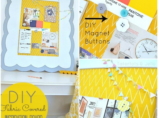 Make a Fabric-Covered, Magnetic Inspiration Board!