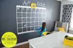 NAVY Chalkboard Wall and GIANT Calendar Tutorial