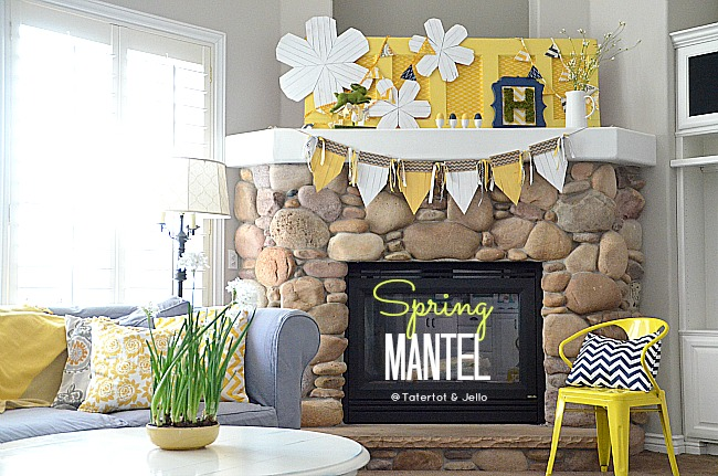 spring wood shim flower mantel