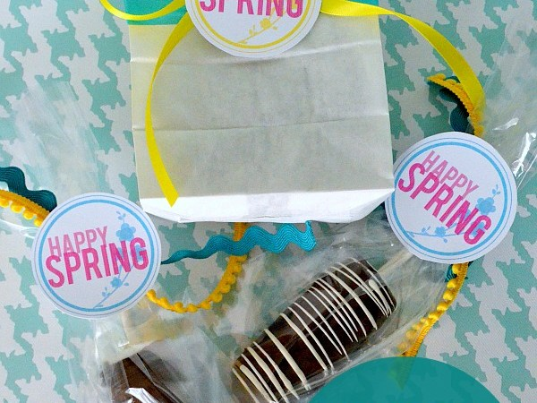 12 FREE Spring Printables and how to Make Disneyland Marshmallow Caramel Chocolate Pops!