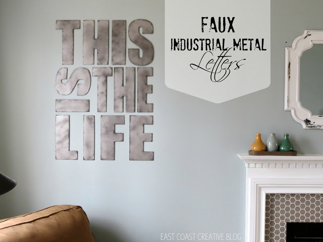 faux industrial letters