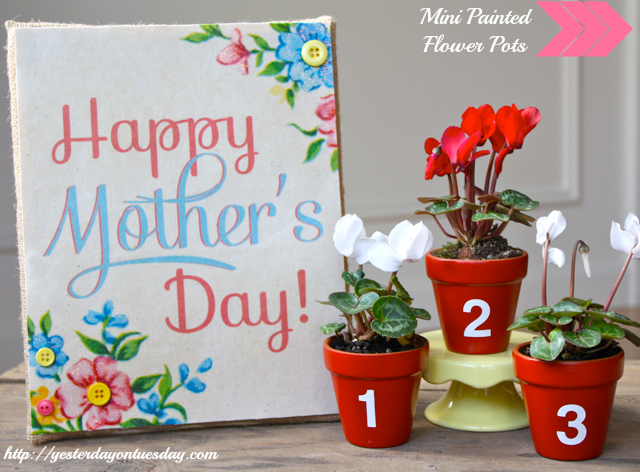 numbered mother's day pots