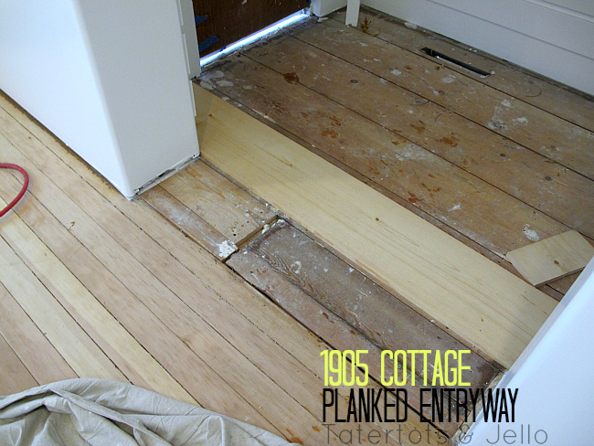 1905 cottage planked entryway DIY