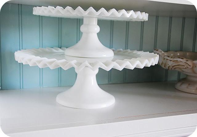 aqua and white shelves