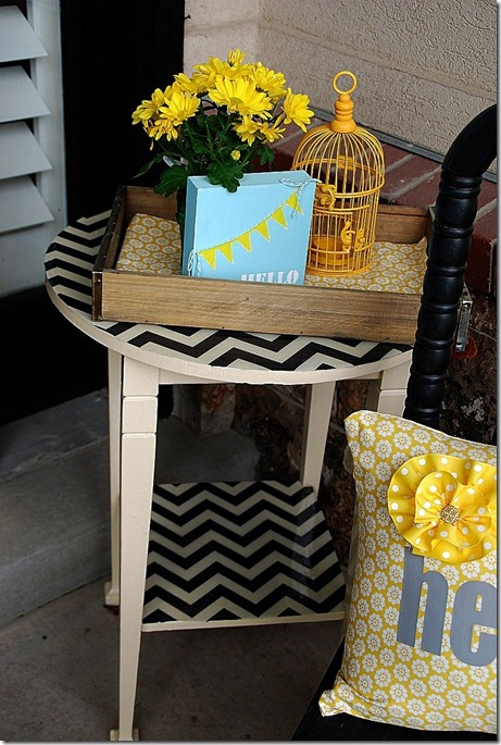 fabric covered side table resin