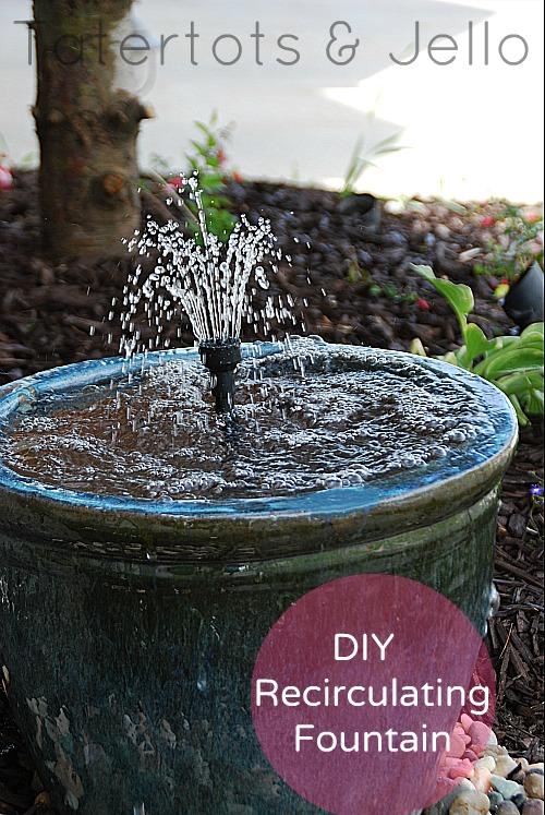 diy recirculating fountain