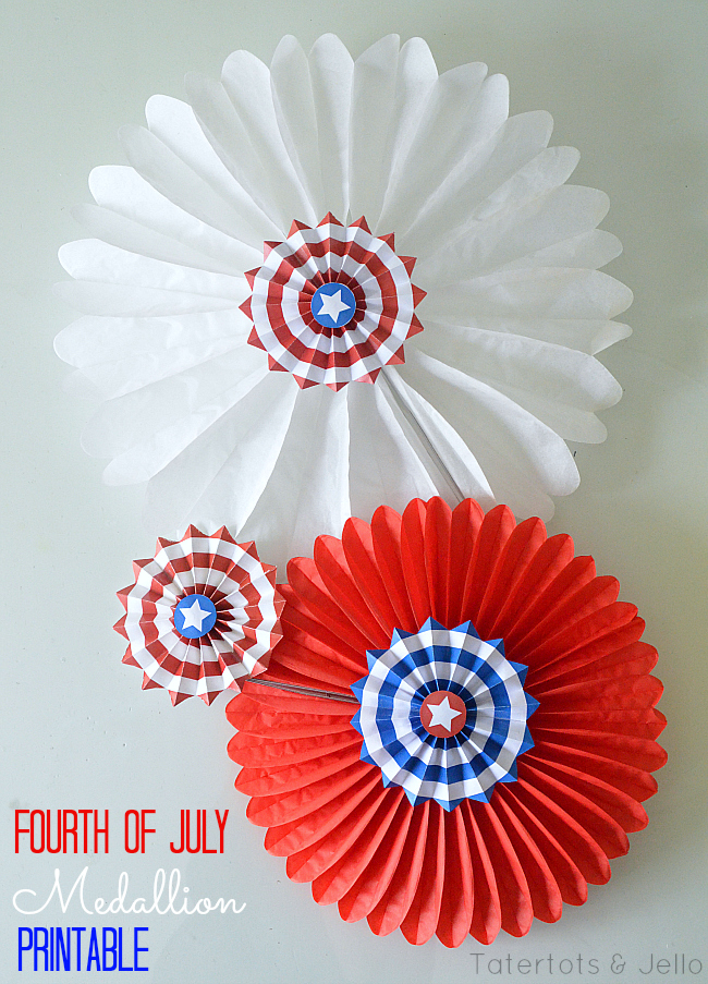 fourth of july medallion printable from tatertots and jello