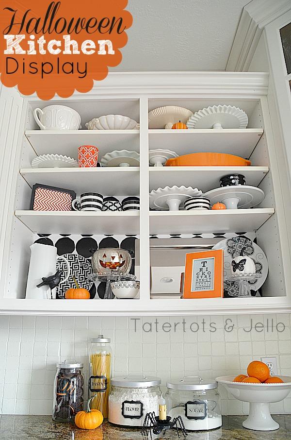 halloween open shelves