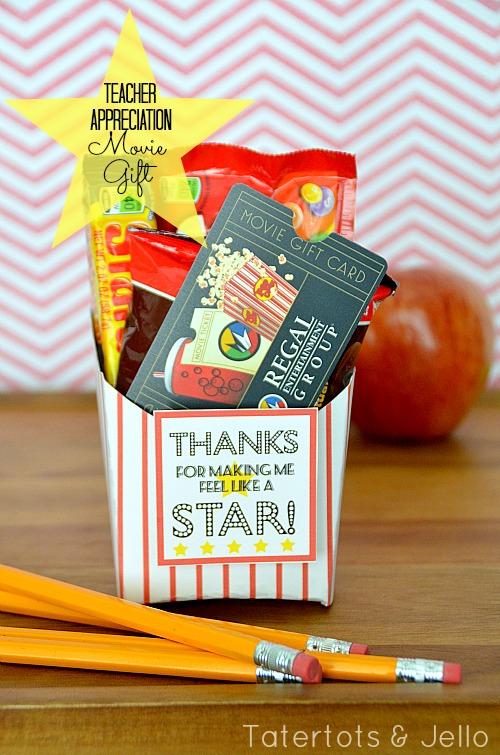 teacher appreciation movie gift at tatertots and jello