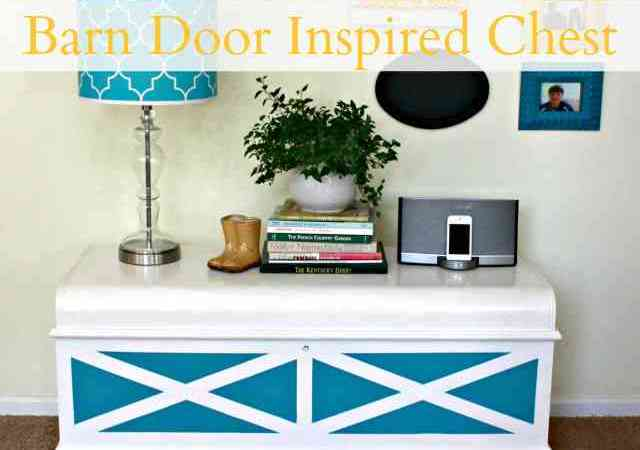 Barn Door-Inspired Painted Chest (DIY Tutorial)