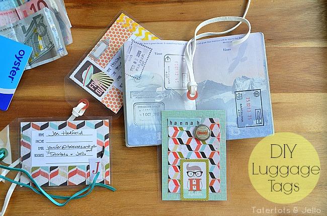 diy luggage tags at tatertots and jello