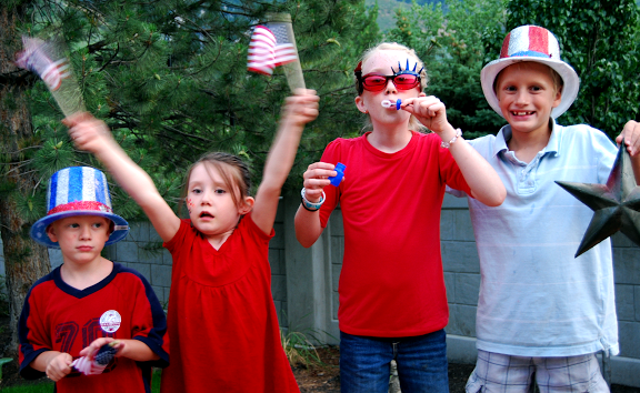 kids at fourth of july