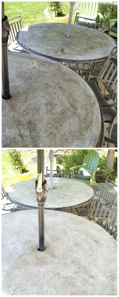 patio tables before and after