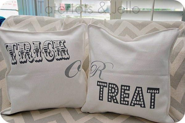 trick or treat pillows