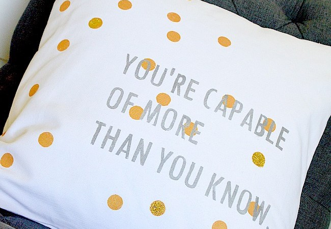 Stenciled Pillow and FREE Printable Inspired by Oz the Great and Powerful