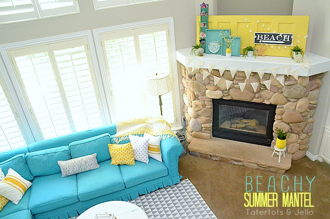 Beachy Summer Mantel 2013!