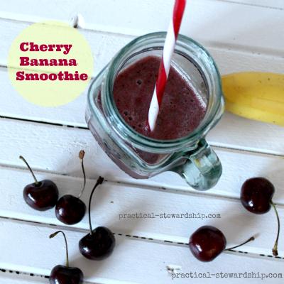 cherry banana smoothie