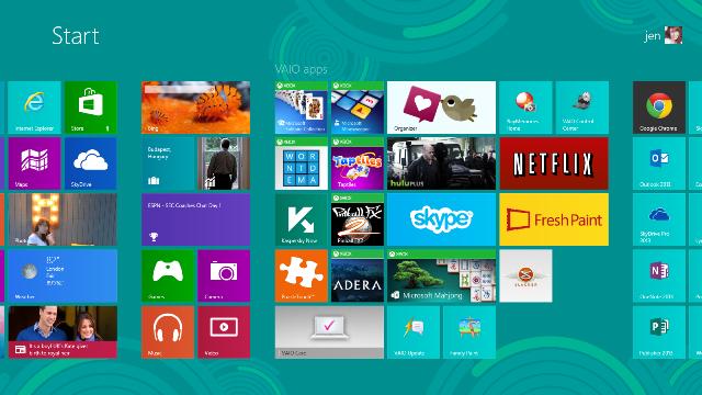 desktop with games