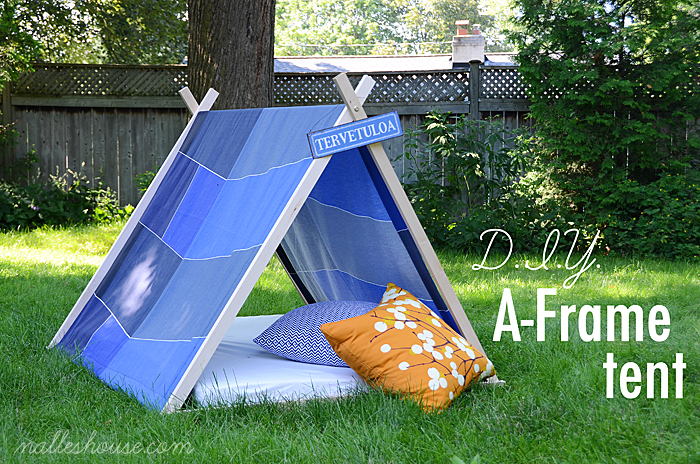 Great ideas 20 outstanding outdoor projects tatertots for Homemade wall tent frame