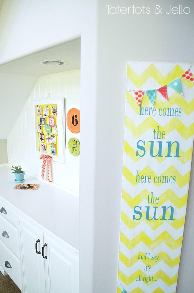 DIY Summertime Instagram Display Wall