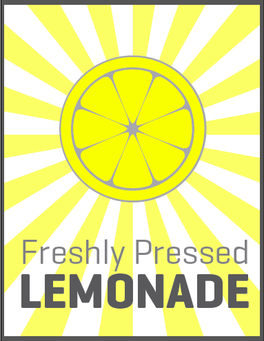 lemonade stand sign version 1