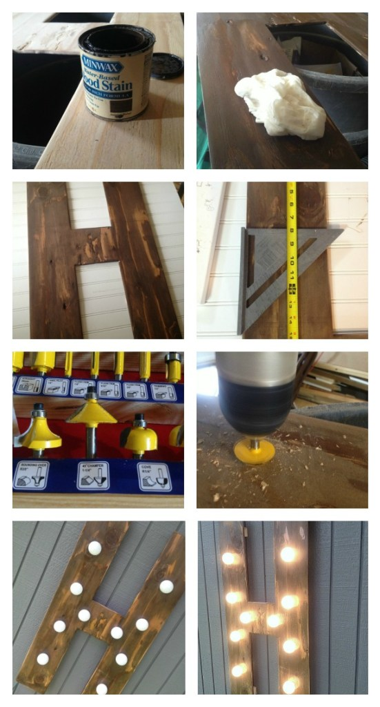 wood marquee letter how to