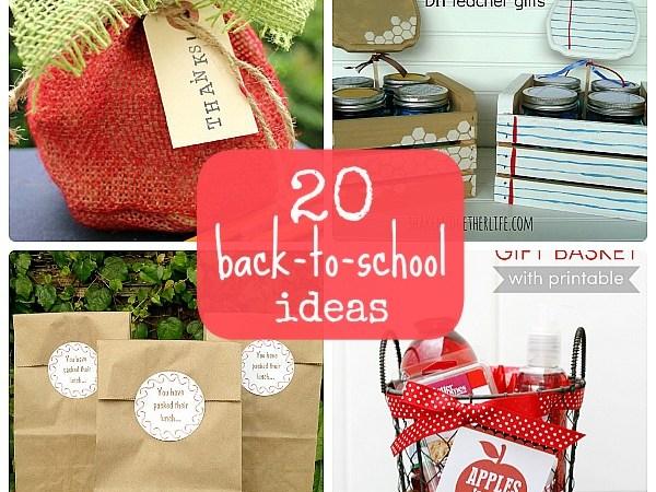 Great Ideas — 20 Back to School Ideas!