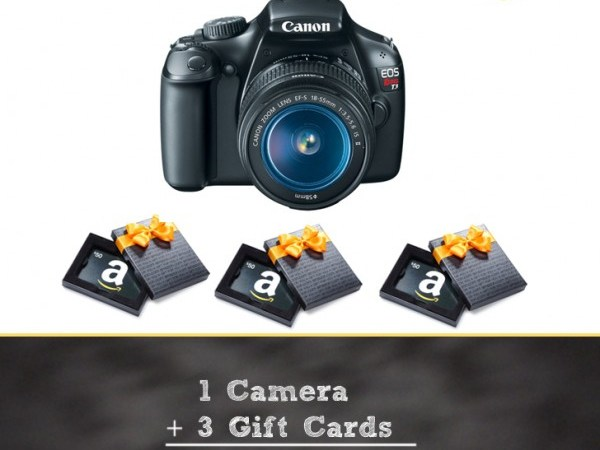 Back to School Giveaway — 1 Camera and 3 Gift Cards. Yay!