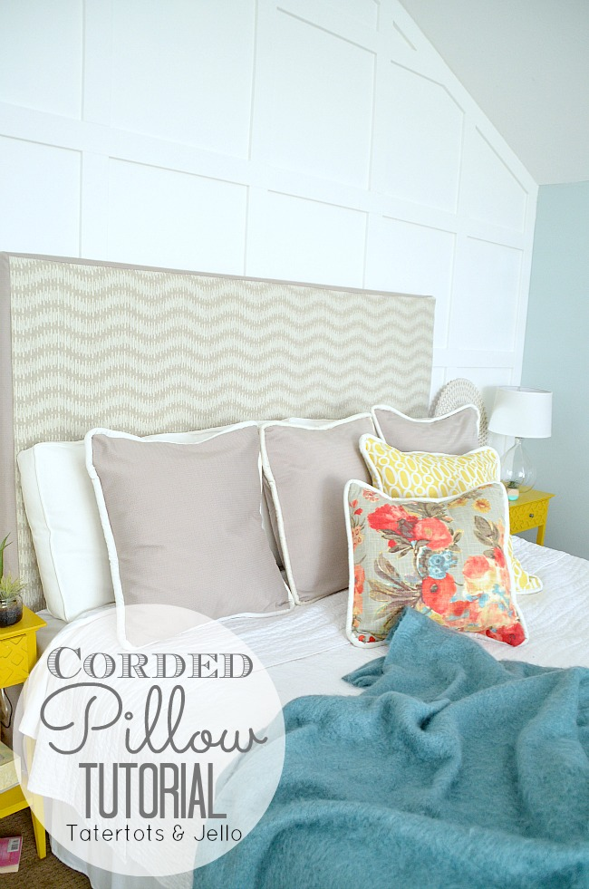 corded pillow tutorial and video