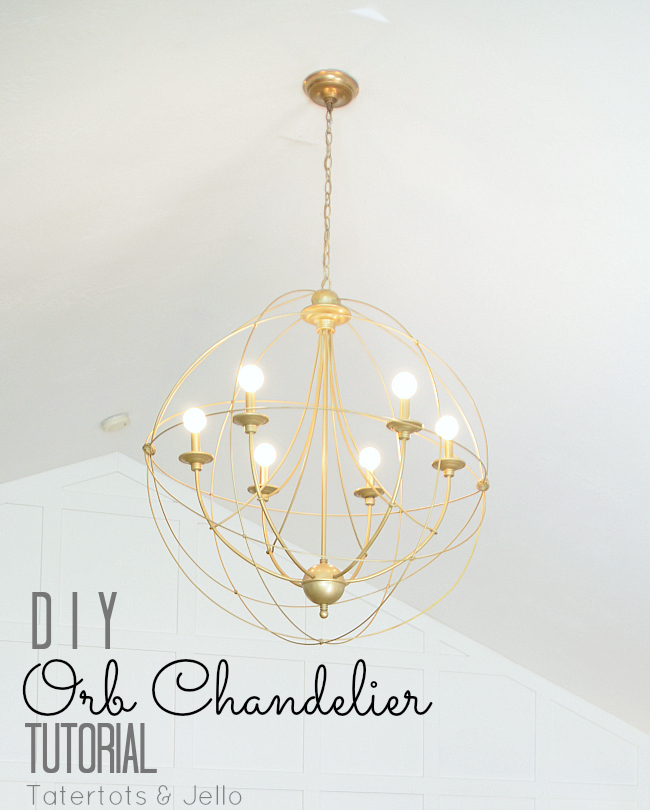 Make a diy knock off orb chandelier tatertots and jello aloadofball Images