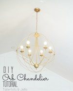 Make a DIY Knock-Off Orb Chandelier!!
