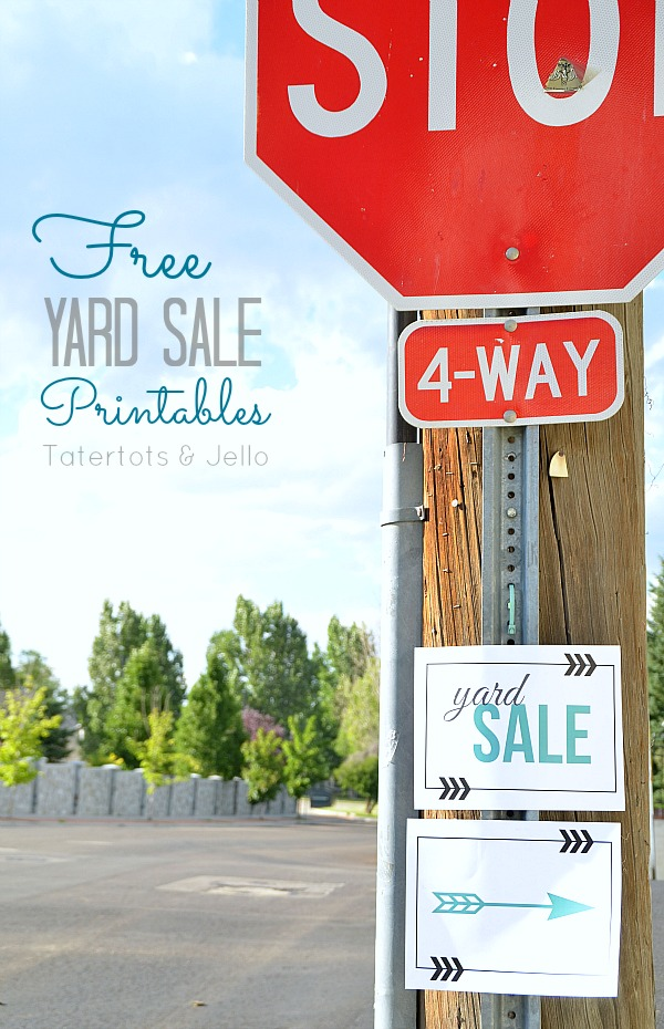 free yard sale printables at tatertots and jello
