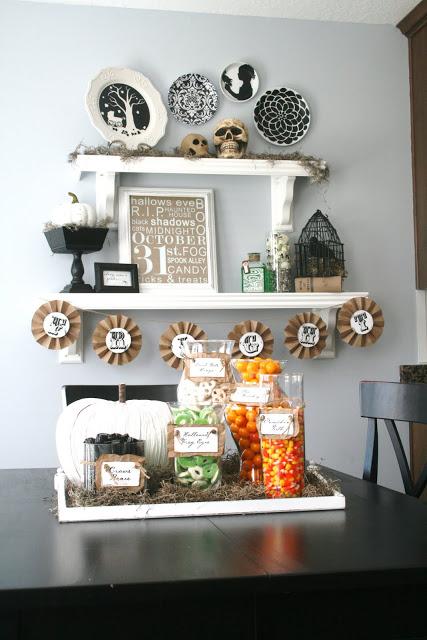 halloween shelves