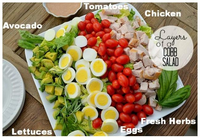 Layered Cobb Salad with Homemade Vinaigrette Dressing!